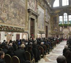 Paus Franciscus ontmoette de diplomaten uit 183 landen © Vatican Media