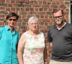 Rio, Lucienne en pastor Gino, drijvende krachten van de Everse onthaalgroep © c Caritas