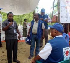 Hulpverlening van Caritas aan Rohingya-vluchtelingen in Bangladesch  © Caritas Internationalis