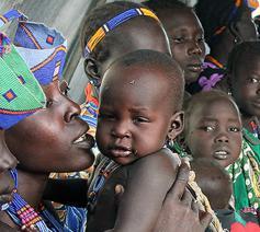 Zuid-Sudan gaat gebukt onder een hongersnood © Caritas Internationalis