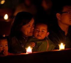 Chinese katholieken in gebed © VaticanNews