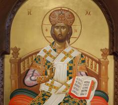 Icoon van Christus Pantocrator, kapel aartsbisdom oecumenisch-orthodoxe Kerk.  © Georgios