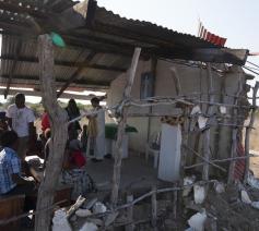 de kerk is een veldhospitaal - Salvatoriaanse missie Mozambique