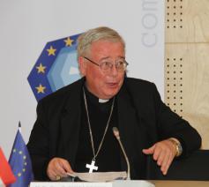De Comecevoorzitter, kardinaal Hollerich © Comece