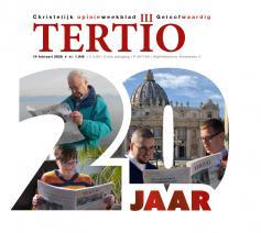 De voorpagina van het 'Tertio'-jubileumnummer. © Tertio