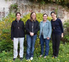 De zusters Anna Carolina, Carmélia, Vania en Claudia  © infocatho.be