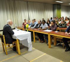 Kardinaal De Kesel tot jongeren in Johannes XXIII seminarie  © H. Medart