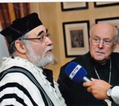 Kardinaal Danneels en de joodse opperrabbijn Guigui © Infocatho
