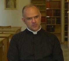 De Italiaan Davide Pagliarani  is de nieuwe generale overste van de Sint-Pius X Priesterbroederschap © La Porte Latine