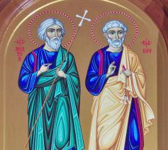 De Heilige Apostelen Andreas en Simon Petrus (Kefas), broers