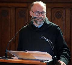 Dom Dirk Hanssens, prior-administrator van de Leuvense benedictijnenabdij Keizersberg © Pol Leemans