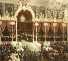Eedaflegging koning Leopold I op 21 juli 1831 van Gustaaf Wappers  © RR