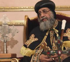 De koptisch-orthodoxe patriarch Tawadros © OSR/SIR