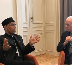 Eritrese metropoliet dankt kardinaal De Kesel © Benoit Lannoo