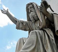 Profeet Ezechiël (Chelli) - Sint-Pietersbasiliek Rome. © RR