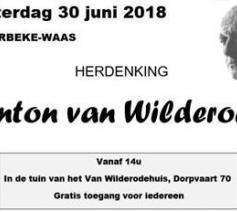Herdenking Anton van Wilderode
