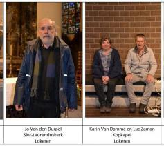 Een gesprekje met enkele kosters van onze parochie © Geert Defauw