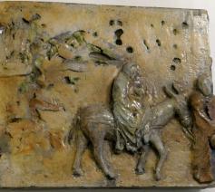 De vlucht naar Egypte. Eveneens keramiek van Vittorio Zitti, te zien in 'De pastorie'. © hc