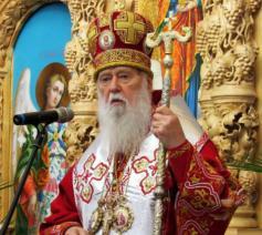 De Oekraïens-orthodoxe patriarch Filaret © Oekraïens-orthodoxe Kerk van het patriarchaat van Kiev