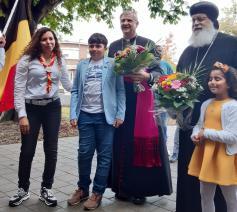 Bisschop Johan Bonny en de koptische bisschop Anba Arseny  © Father Moussa/Koptisch-orthodoxe Kerk België