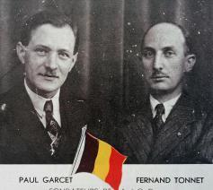 Paul Garcet en Fernand Tonnet, 2 pioniers van de Kristelijke Arbeidersjeugd KAJ-JOC. © Cardijn Research
