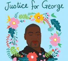 George Floyd, omgekomen bij politiegeweld.