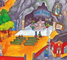 Het Grotteke of de Onze-Lieve-Vrouw van Lourdesgrot in Jette