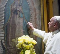 De paus bij Onze-Lieve-Vrouw van Guadeloupe © Vatican Media
