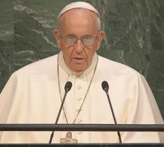 Paus Franciscus spreekt Verenigde Naties in New York toe © UN-mission of the Holy See