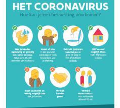 Affiche hoe je een besmetting voorkomt