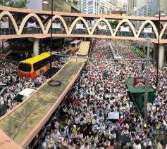 Meer dan een miljoen betogers in de straten van Hongkong © HOCC/Facebook