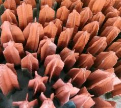 ARBRES, 450 keramieken boompjes van Anny Delsaer. © Jente Vandewijer