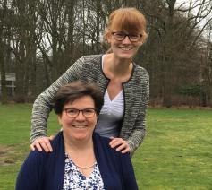 Annelien Boone (boven) en Kristien Vrancken, dappere dames aan het hoofd van IJD en CCV. © Kerknet