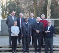 Mgr. Anaclet Mwumvaneza ontmoette vandaag de bisschopsraad van het bisdom Hasselt © bisdom Hasselt