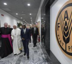 Paus Franciscus bij Ifad © Vatican Media