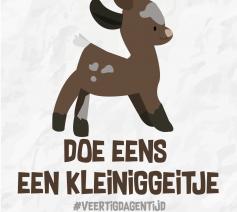 Veertigdagentijd 2019 - Doe eens een kleinigeitje  © Aagje Van Impe