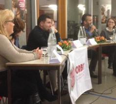 Veerle Vlemincx, Christel Decap, Selahattin Koçak, Naziha Maher, Hamid Riffi en Lies Vandeneede © RR