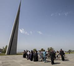 Het nationale monument 'Tsitsernakaberd' in Jerevan©Grigor Yepremyan/WCC