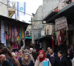 Een straatmarkt in Jeruzalem © WCC