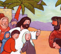 Jezus en de kinderen © Roel Ottow in Hosannah