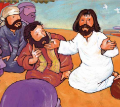 Jezus vertelt © Roel Ottow in 'Hosanna'