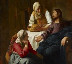 Jan Vermeer, Christus in het huis van Marta en Maria, 1654 © Google Art Project