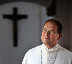 Abt-generaal Jos Wouters ontvangt een eredoctoraat van het Saint Norbert College in Wisconsin in de VS © O.p./Ramon Mangold