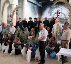 Groepsfoto van het comité voor de heropbouw in Nineve © Kerk in Nood