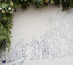 Het kunstwerk dat ter gelegenheid van de 25ste verjaardag van Kamiano werd onthuld © Sant'Egidio