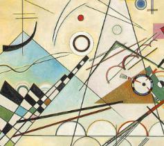 Composition 8, huile sur toile, 140 cm x 201 cm, Musée Guggenheim, New York. © Wassily Kandinsky, 1923