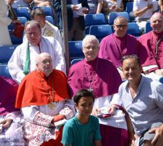 Kardinaal Danneels kwam telkens naar de Kroningsfeesten in Tongeren, zo ook drie jaar geleden. © Jef Moermans
