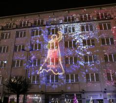 Lichtshow voor het klimaat in Katawice © COP24