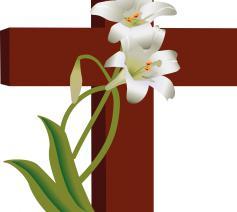 Kruis met bloemen © Free clipart