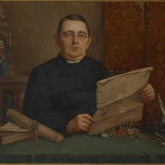 Kanunnik Jozef Laenen, archivaris van 1902 tot 1940 © KIK-IRPA